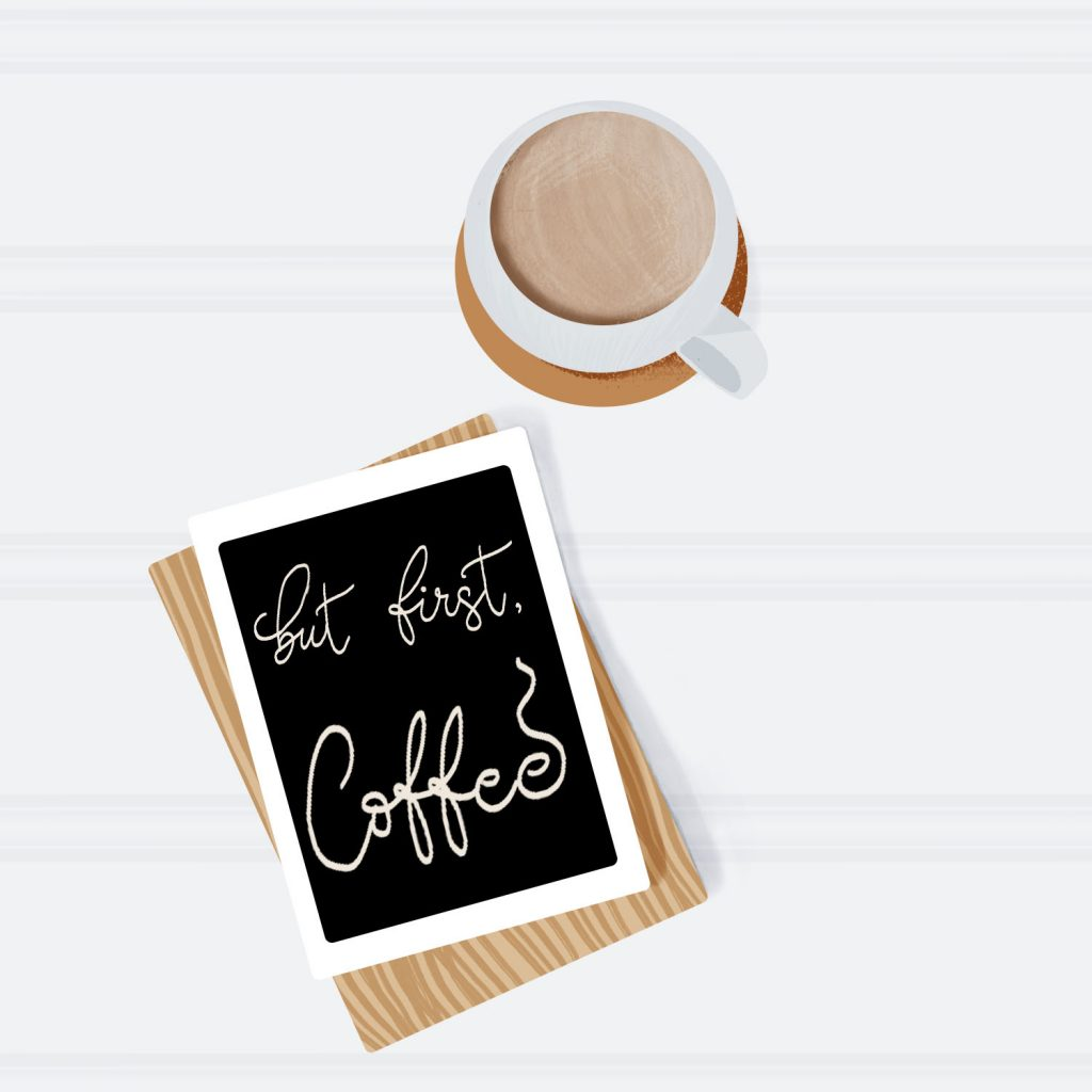 Example of a coffee time image from Destination Marketing
