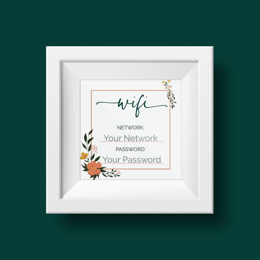 Floral Design Wifi Sign