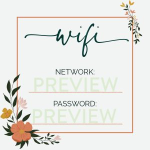 Wifi Sign Floral Preview